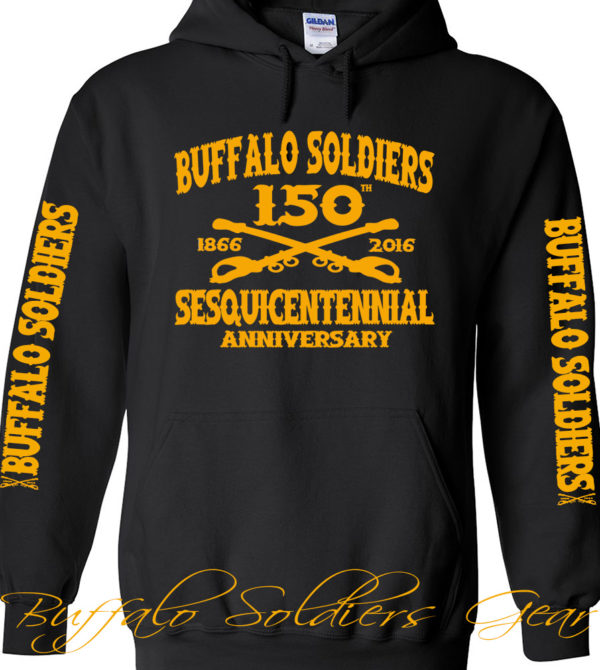 Buffalo Soldiers Sesquicentennial Anniversary Black Hoodie