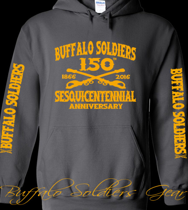 Buffalo Soldiers Sesquicentennial Anniversary Gray Hoodie