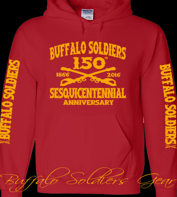 Buffalo Soldiers Sesquicentennial Anniversary Red Hoodie