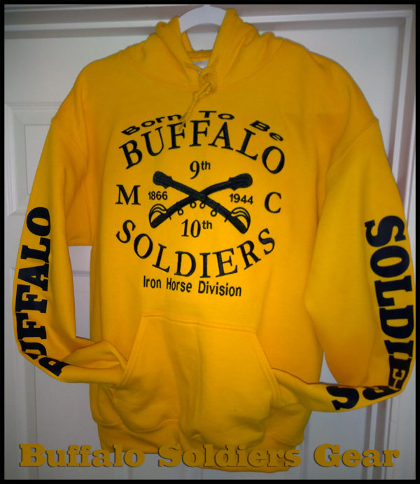 Born to Be Buffalo Soldiers Embroidered Hoodie